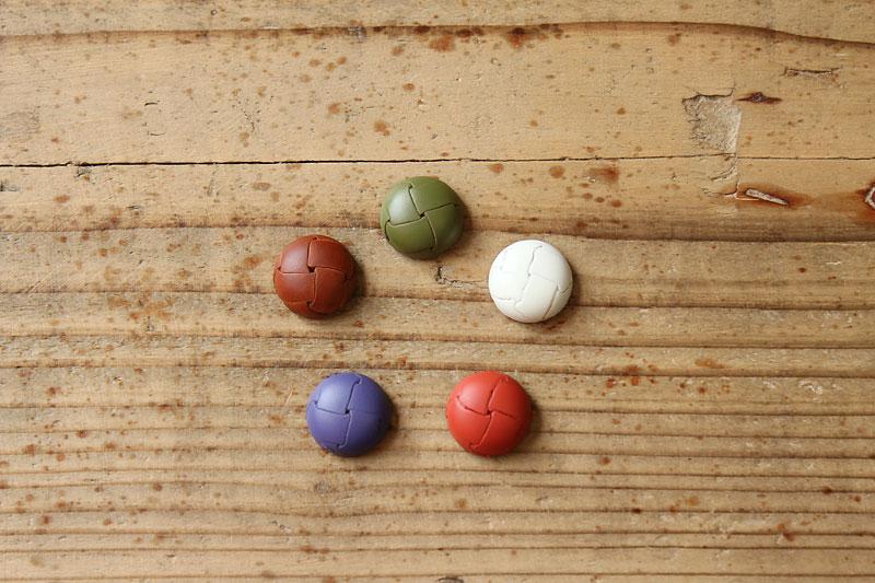 奈良の5色革ボタン