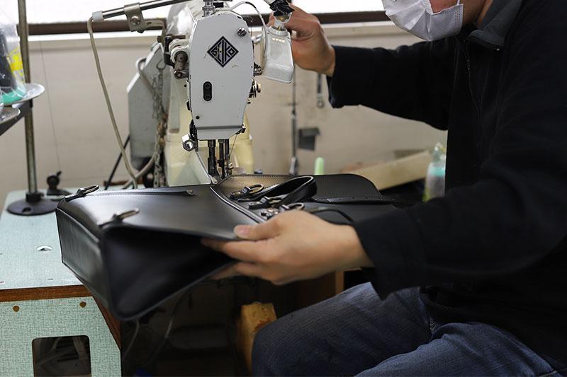 バッグのまとめ縫い