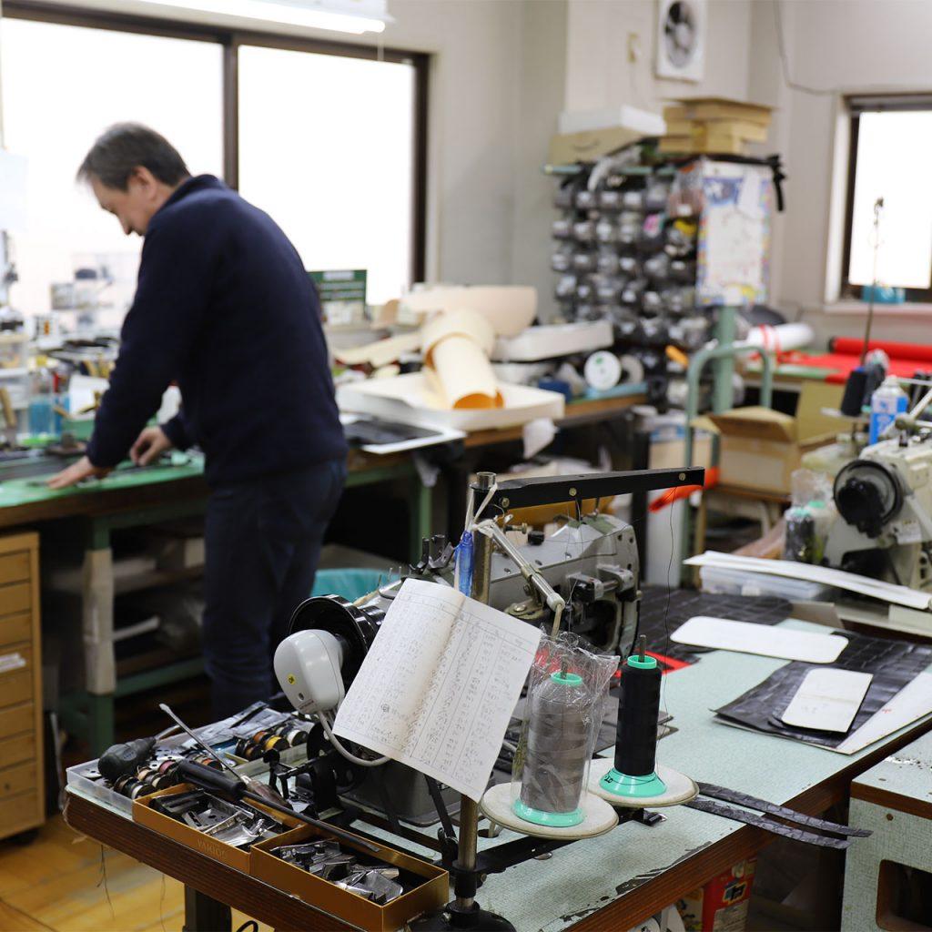 バッグの試作室