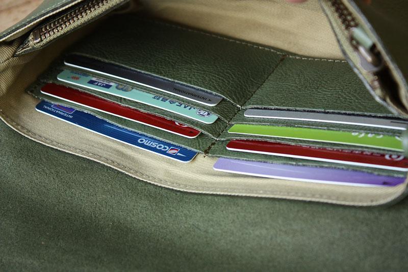 カードポケット、お札入れ